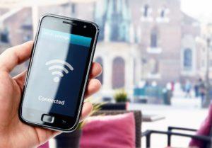 смартфон в сети wi-fi
