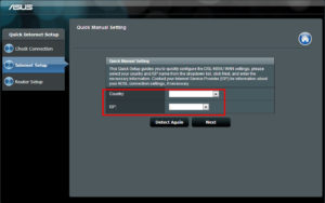 Выбрать свое местоположение, в пункте ISP - своего провайдера