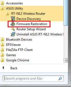 Firmware Restoration