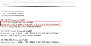 TCPIP has properties