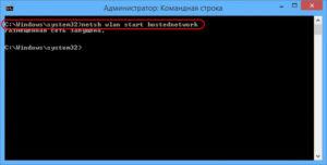netsh wlan start hostednetwork
