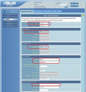 Настройки для NetByNet автоматический ip