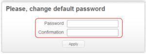 Изменить пароль администратора