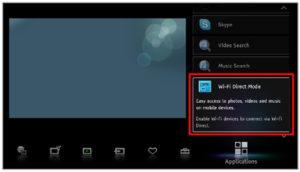 Включить Wi-Fi-директ на ТВ Sony