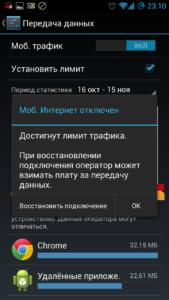 Выключение WiFi