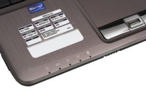 Кнопки включения WiFi иBluetooth наноутбуке