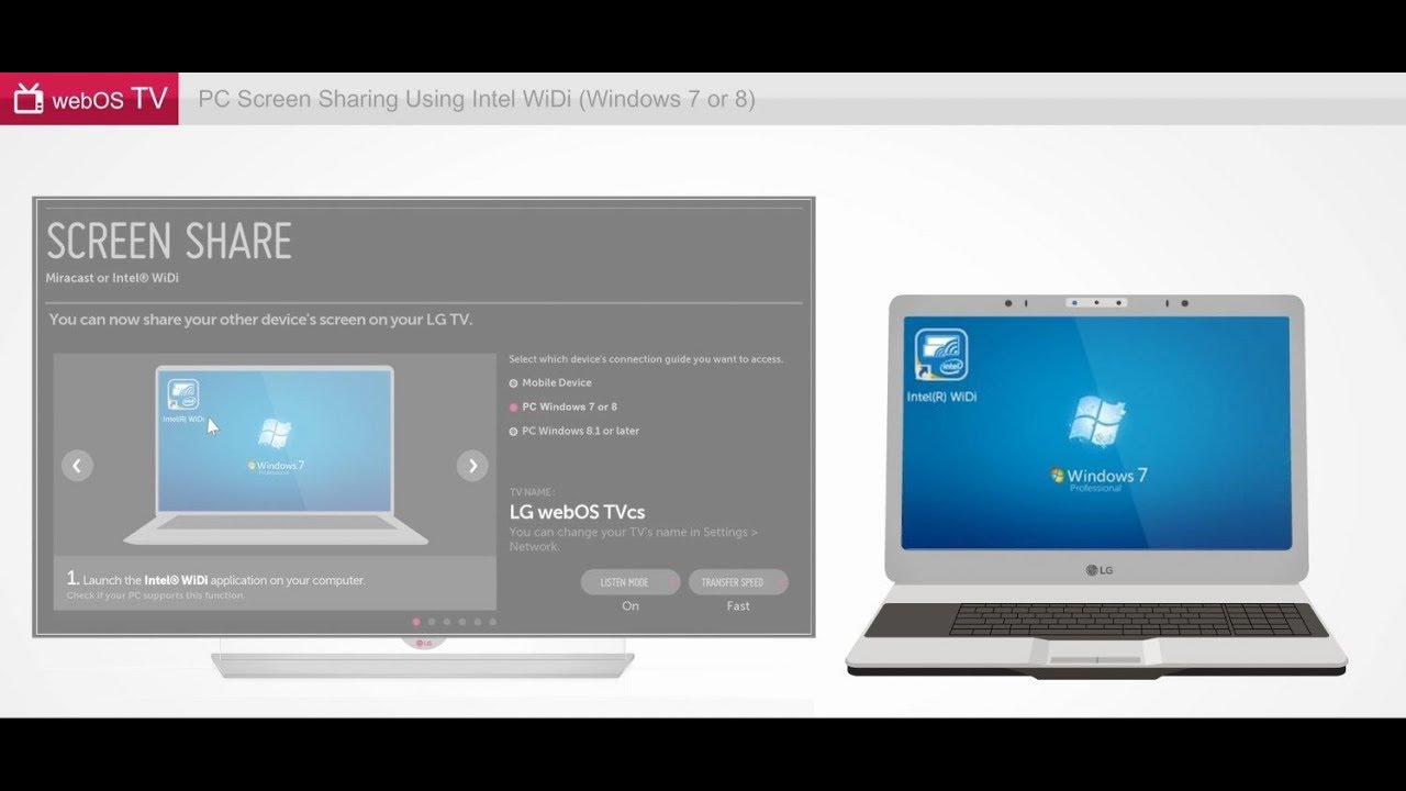 Как подключить телевизор LG к компьютеру через Wi-Fi Direct