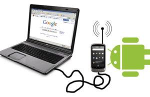 Андроид-устройство в качестве модема для ПК