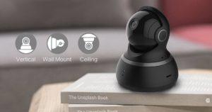 Для предотвращения скольжения подставка YI Dome Camera 360° снабжена прорезиненным кольцом