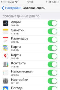 Убрать приложение из списка автоматического доступа к Интернету