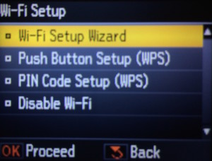Подключение к wi-fi на принтере
