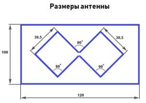Чертеж антенны Харченко
