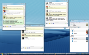 В LAN Messenger есть возможность общаться сразу с несколькими людьми
