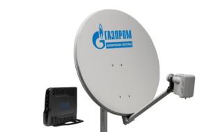 Тарелка для спутниковой связи от Газпром