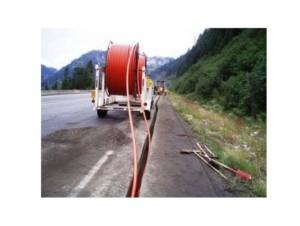 Прокладка кабеля по местности