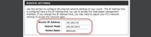 IP-адрес в настройках