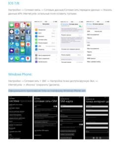 Процесс настройки точки доступа на Айфон и Виндовс Фон