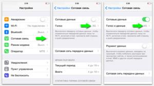Включение 3G на iPhone без поддержки LTE