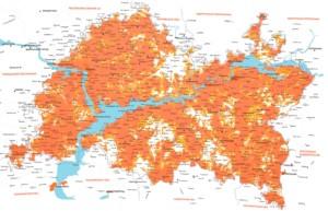 Зона покрытия 4G-сети «Летай»