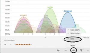 Выбор показа SSID для упрощения поиска сетей