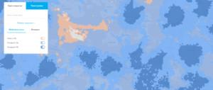 Карта зон покрытия