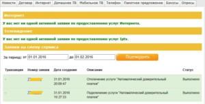 Активная заявка по подключению автоматического ДП