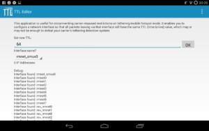 Корректировка TTL приложением