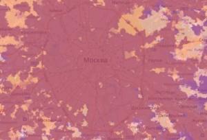Карта покрытия в Москве